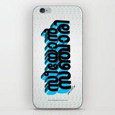 Seeyon Sanjari (Zion Traveler) - (3D - Black & Blue) iPhone & iPod Skin