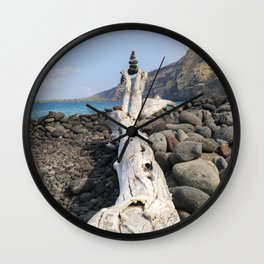 Rocks, Balanced at the Beach Wall Clock