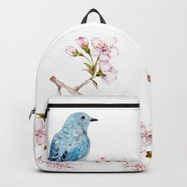 Mountain Bluebirds on Sakura Branch Backpack