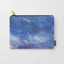 Chinese blue abstract watercolor Carry-All Pouch