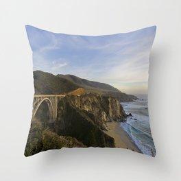 Bixby Bridge at Big Sur Throw Pillow