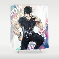 dbz Shower Curtains featuring + DBZ - Seungri + by MitsuBlinger