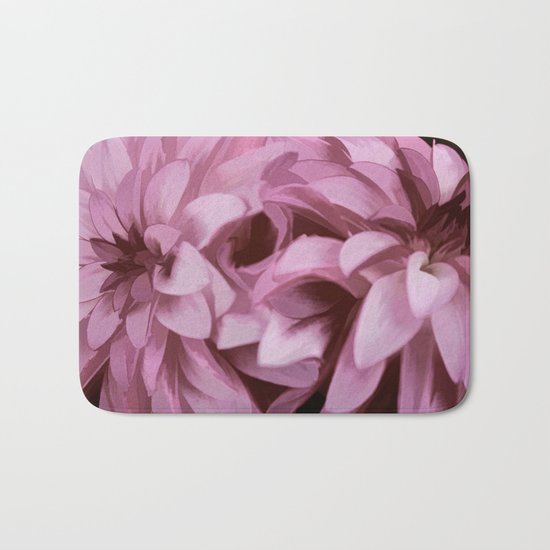 Just The Two Of Us - Painterly Dahlias Bath Mat