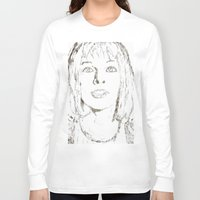 fifth element Long Sleeve T-shirts featuring Leeloo Fifth Element sketch- Milla Jovovich  by Robin Stevens