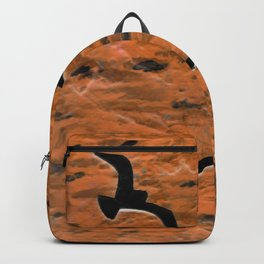 Gulls with sky -- negative image Backpack