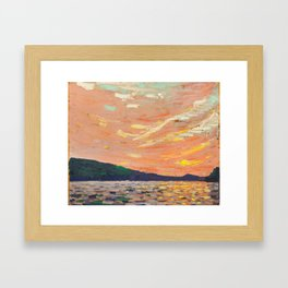 Tom Thomson - Smoke Lake - Canada, Canadian Oil Painting - Group of Seven Framed Art Print
