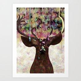 The Painted Deer Art Print