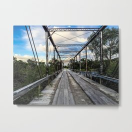 Williams Bridge Near Willow Creek Montana Metal Print