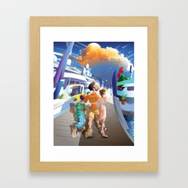 Boat Show Illustration Framed Art Print