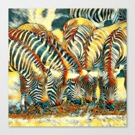AnimalArt_Zebra_20170602_by_JAMColorsSpecial Canvas Print