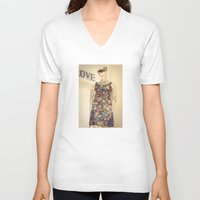 vogue V-neck T-shirts featuring Vogue by Carol Knudsen Photographic Artist
