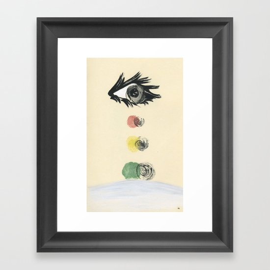 stop, drop and roll Framed Art Print