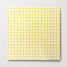 Yellow Houndstooth Pattern Metal Print