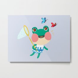 Animal Crossing Lily Metal Print