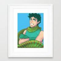 jjba Framed Art Prints featuring JJBA :: Joseph by Thais Magnta Canha