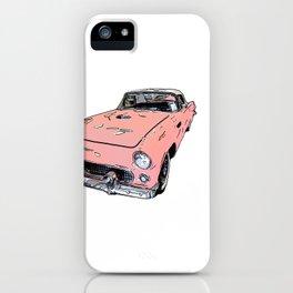 Pink Sports Car Automobile Art by Daniel MacGregor iPhone Case