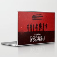 mass effect Laptop & iPad Skins featuring Mass Effect 1 by Bill Pyle