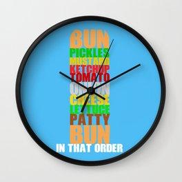 Krabby Patty Wall Clock