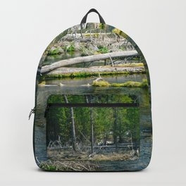 Fall River in Shades of Green Backpack