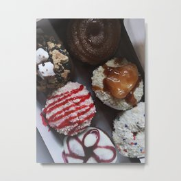 Peace, Love, and Little Donuts Metal Print