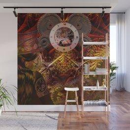 Steampunk internal clock Wall Mural