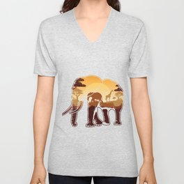 Elephant Safari Animals Zoo Zookeepers Rescue Animal Nature Veterinarian Forest Gift Unisex V-Neck
