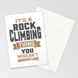 Rock Climbing Thing Stationery Cards