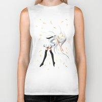 swan queen Biker Tanks featuring Swan by Freeminds