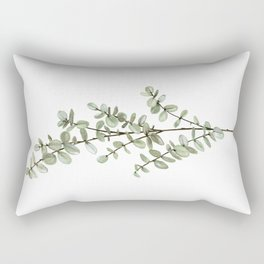 Baby Blue Eucalyptus Watercolor Painting Rectangular Pillow