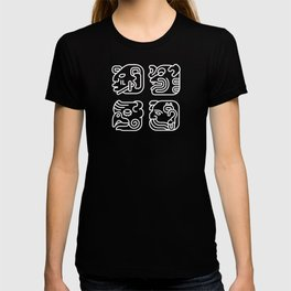 Mayan Glyphs ~ Heads T-shirt