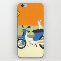 motorbike iPhone & iPod Skins featuring motorbike by Valeria Cis