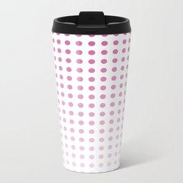 Polka Dots/Pink Metal Travel Mug