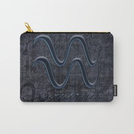 Aquarius In Grunge Look Carry-All Pouch