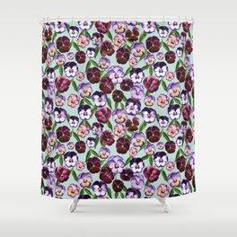 Pansy Wonderland Shower Curtain