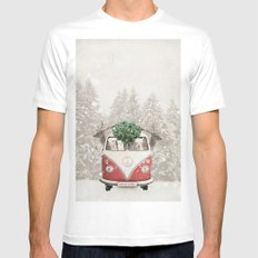 NEVER STOP EXPLORING - X-MAS Mens Fitted Tee MEDIUM White