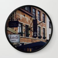 brussels Wall Clocks featuring Brussels by monography