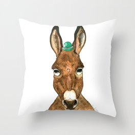 Ane au chapeau Throw Pillow
