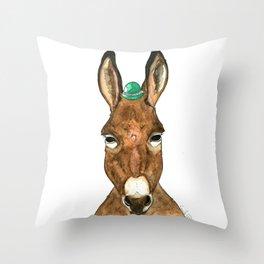 Ane au chapeau Throw Pillow