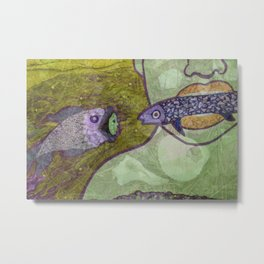 Marine Encounters [Mint Version with Seashells] Metal Print
