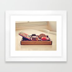 Coffee Break, Israeli Style Framed Art Print
