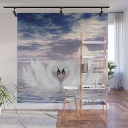 love swans Wall Mural