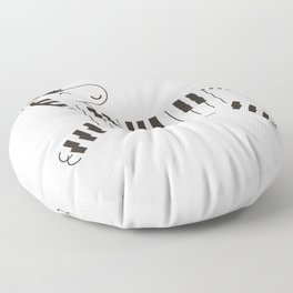 Life is like a piano Floor Pillow