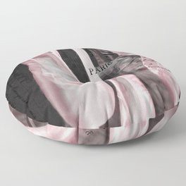 Paris Ballet Pointe Shoes - Paris Ballerina Pink Pointe Shoes - Paris Ballet Art Typography Floor Pillow