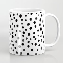 Modern Polka Dot Hand Painted Pattern Coffee Mug