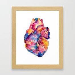 Heart Is On Fire Framed Art Print