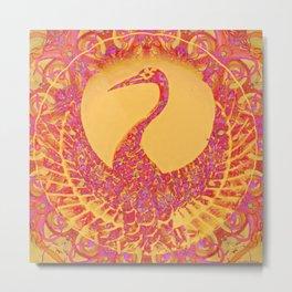 Phoenix-eternity-symbol-karma-cycle of life and death-reincarnation-spirituality Metal Print