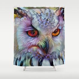 Ethereal Owl Shower Curtain