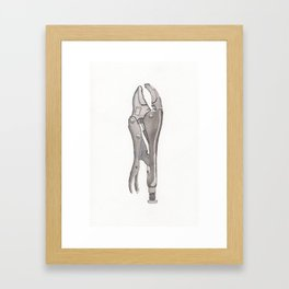 Vicegrips Watercolor Framed Art Print