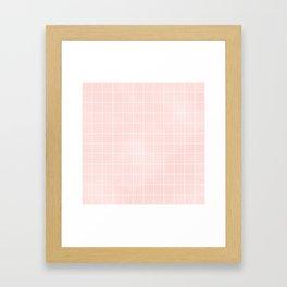 Blush Pink Coral Grid Framed Art Print