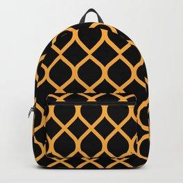 The Black and Orange Curve Backpack